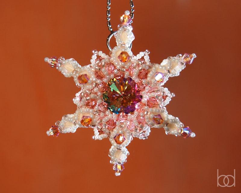 beading pattern snowflake pendant