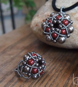 beaded ring and pendant tutorial download