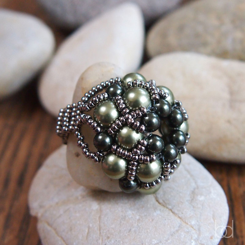 beaded ring tutorial for beginners