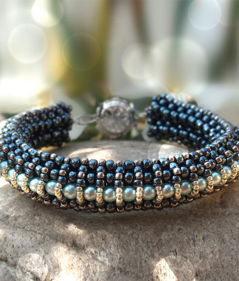 Raw beaded bracelet tutorial, Elizabeth bracelet beading pattern
