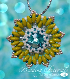 Super duo bead pendant beding tutorial