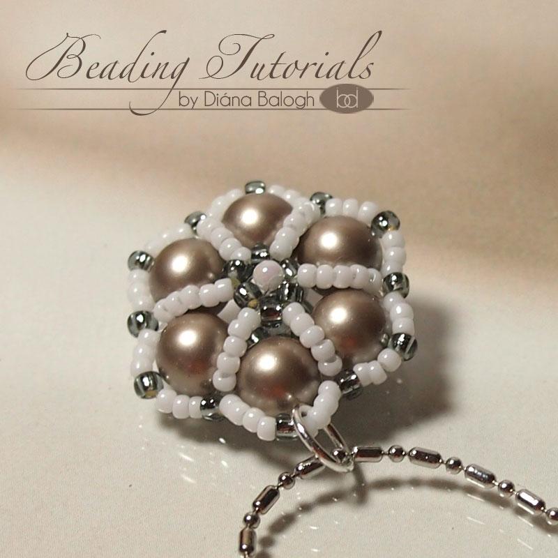 beaded bead pendant tutorial for beginners