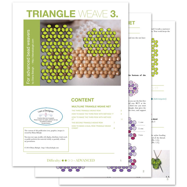 Beading lesson Triangle weave 3