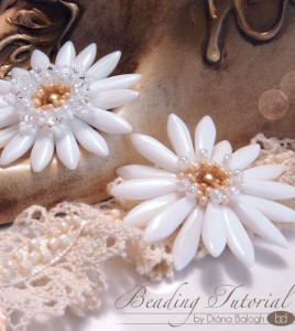 White Lady Flower pendant beading tutorial