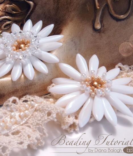 White Lady Flower pendant beading tutorial