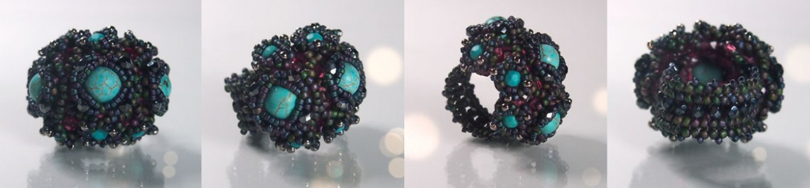 Beading tutorial Aglio ring