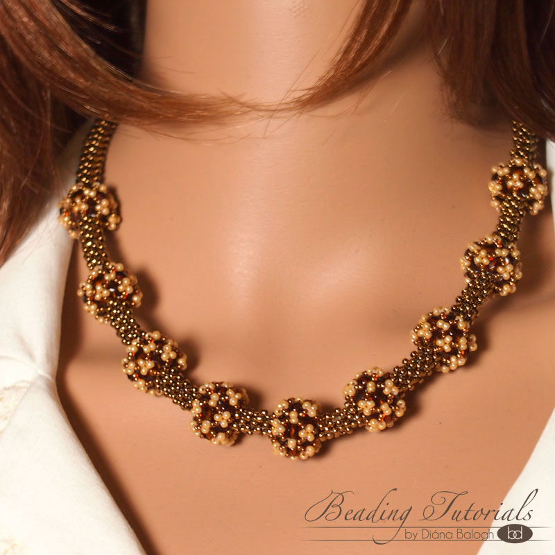 beaded necklace tutorial, RAW tutorial, triangle weave beading tutorial