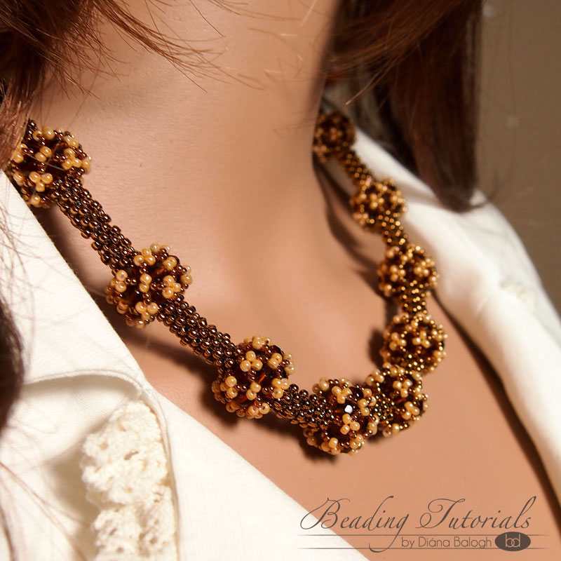 RAW necklace beading tutorial