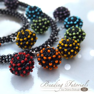 raw beaded bead beading tutorial with necklace and bracelet