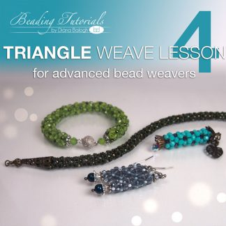 Triangle weave lesson 4, tubular triangle weave stitch, triangle weave rope download