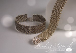 Silver and Gold chenille bracelet tutorial Beadwork Magazine