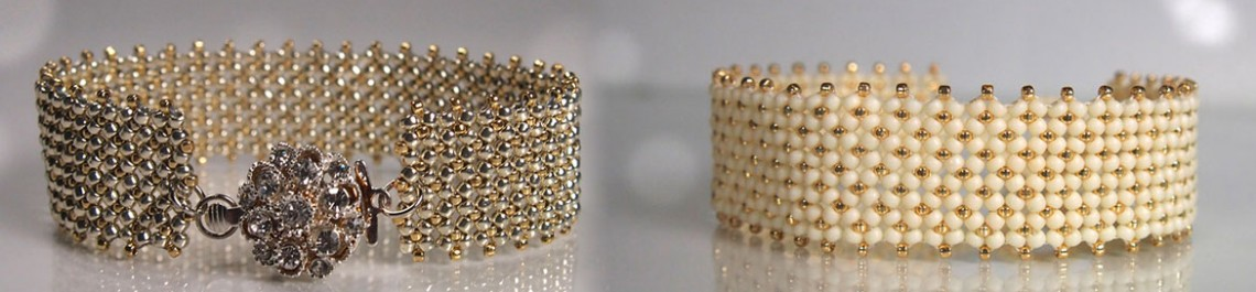 Silver and Gold bracelet tutorial Beadwork Magazine