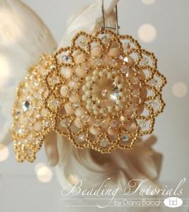 Bollywood style earrings beading tutorial