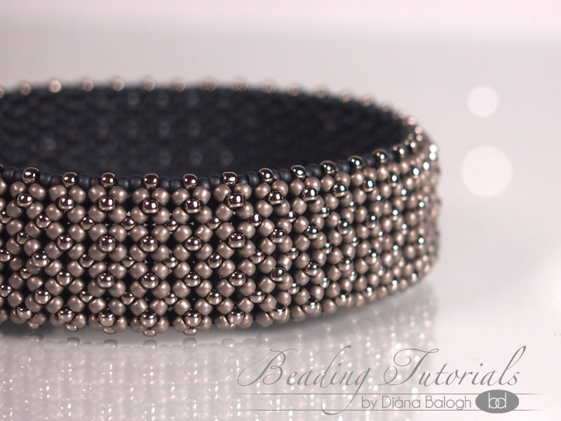 Flat chenille bangle beading tutorial
