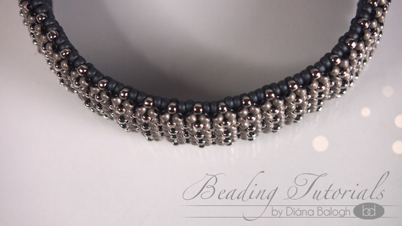 Chenille bangle beading tutorial