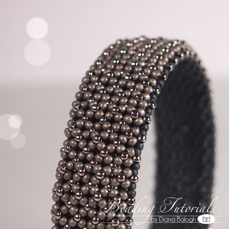 Flet chenille beading tutorial, chenille bangle