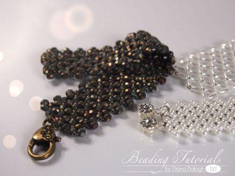 Chenille net bracelet tutorial, beading tutorial flat chenille stitch bracelet