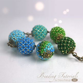 Beading tutorial chenille beaded bead