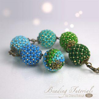 Beading tutorial chenille beaded bead
