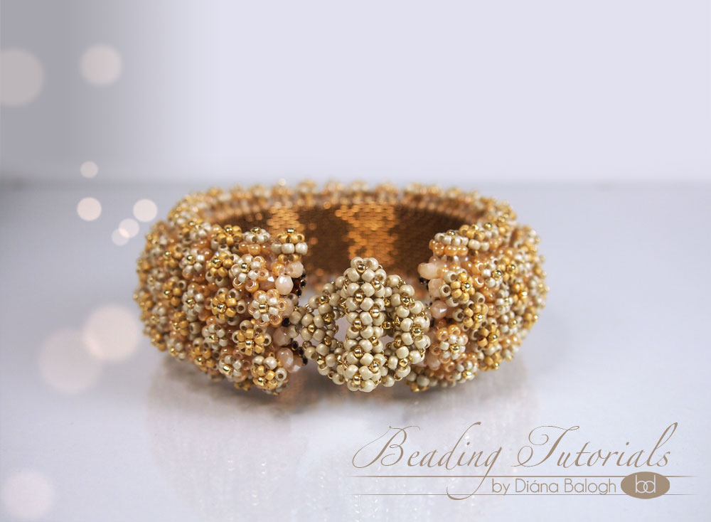 Beading tutorial Corona de Flore bracelet
