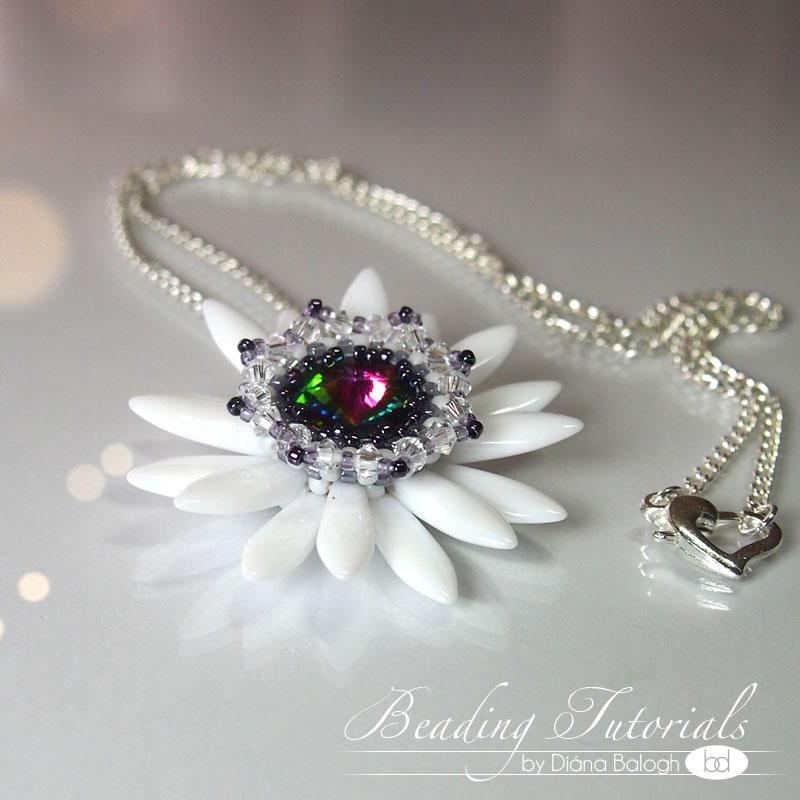 fairys_lily_pendant beading tutorial