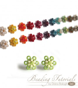 tiny flower earrings beading tutorial