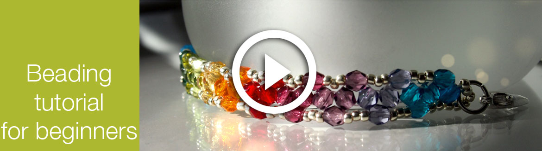 how to make rainbow triangle weave bracelet - video tutorial