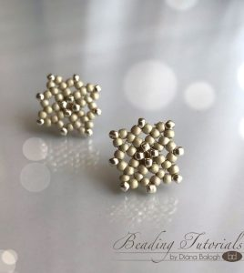 Lacy Square Earrings beading tutorial