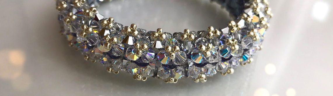 The name of the beaded Swarovski crystal bracelet by Diána Balogh