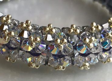 The name of the beaded Swarovski crystal bracelet by Diána Balogh