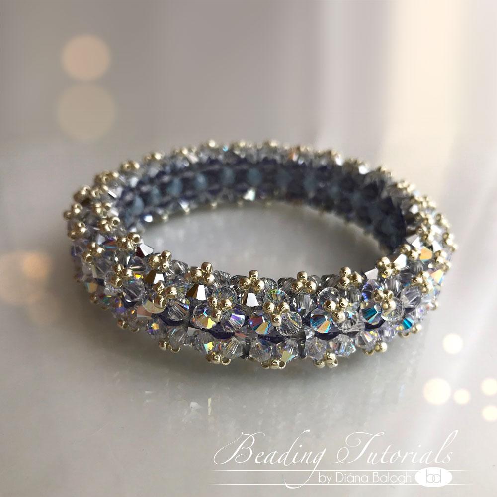 Swarovski crystal bracelet beading tutorial Lady Di