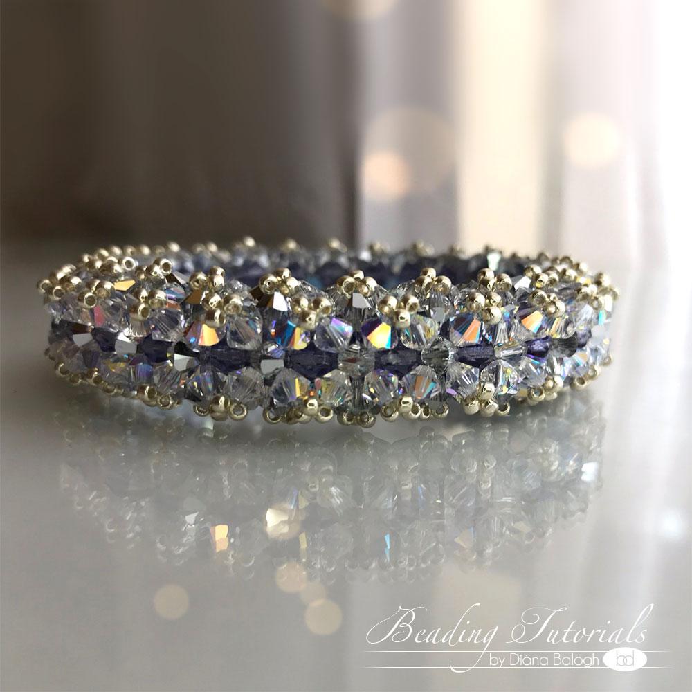 Beaded crystal bracelet tutorial