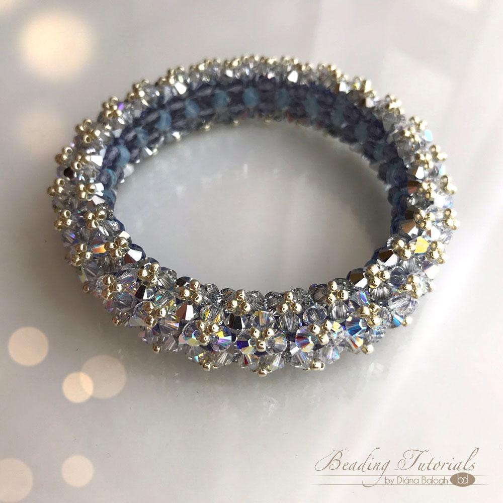 beading tutorial lady di swarovski crystal bracelet by diana balogh