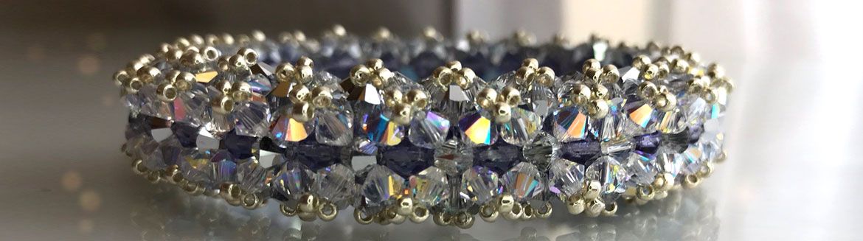 Swarovski crystal bracelet beading tutorial