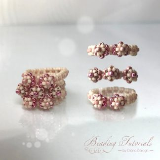 Tiny flower ring beading tutorial