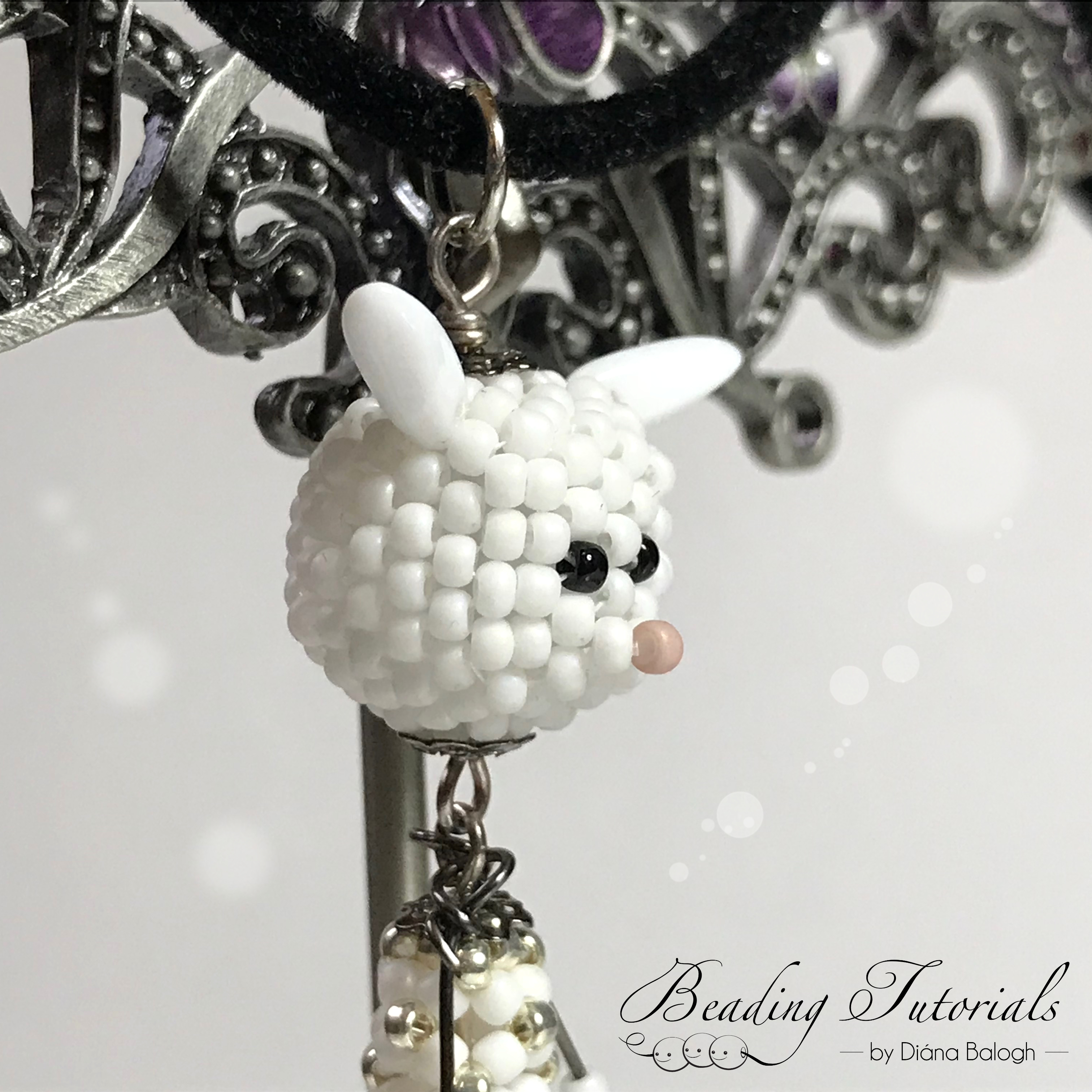beaded bead pendant pattern
