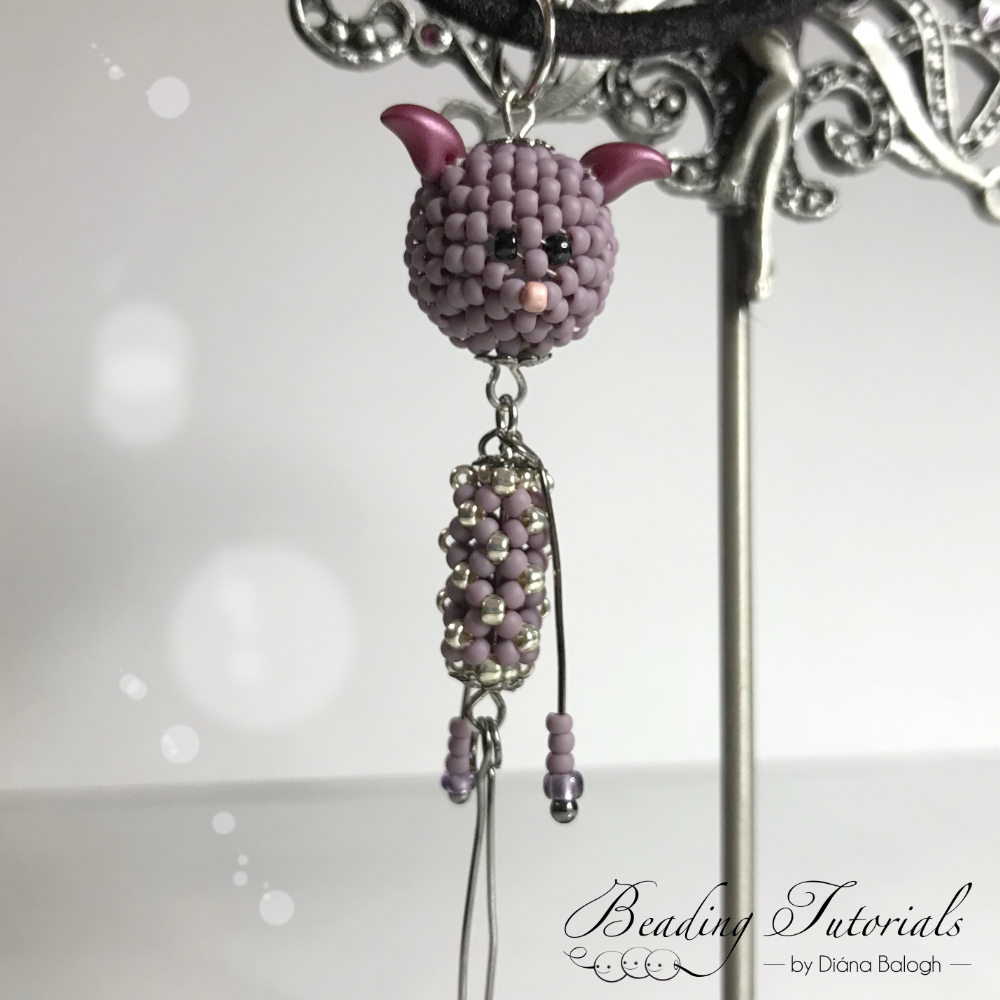 Beading tutorial beaded bead pendant