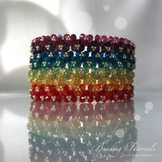 Beading tutorial Twins bangle