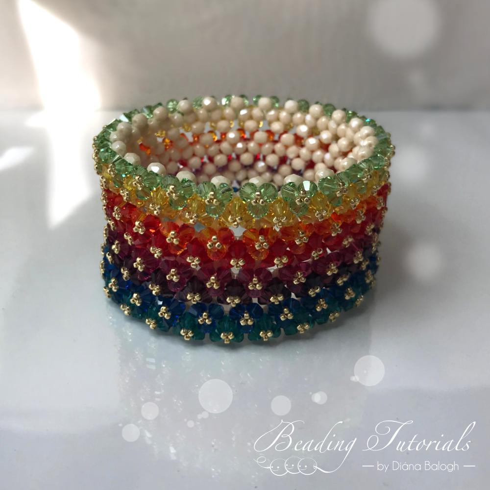Twins crystal bracelet beading tutorial