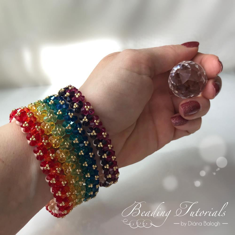 Triangle weave bracelet beading tutorial
