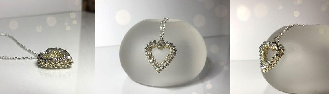 Heart pendant beading tutorial