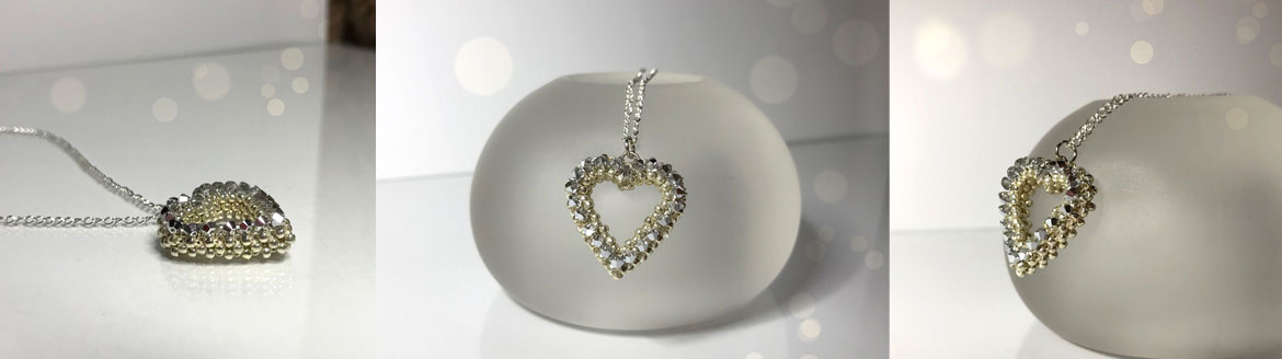 Heart pendant beading tutorial
