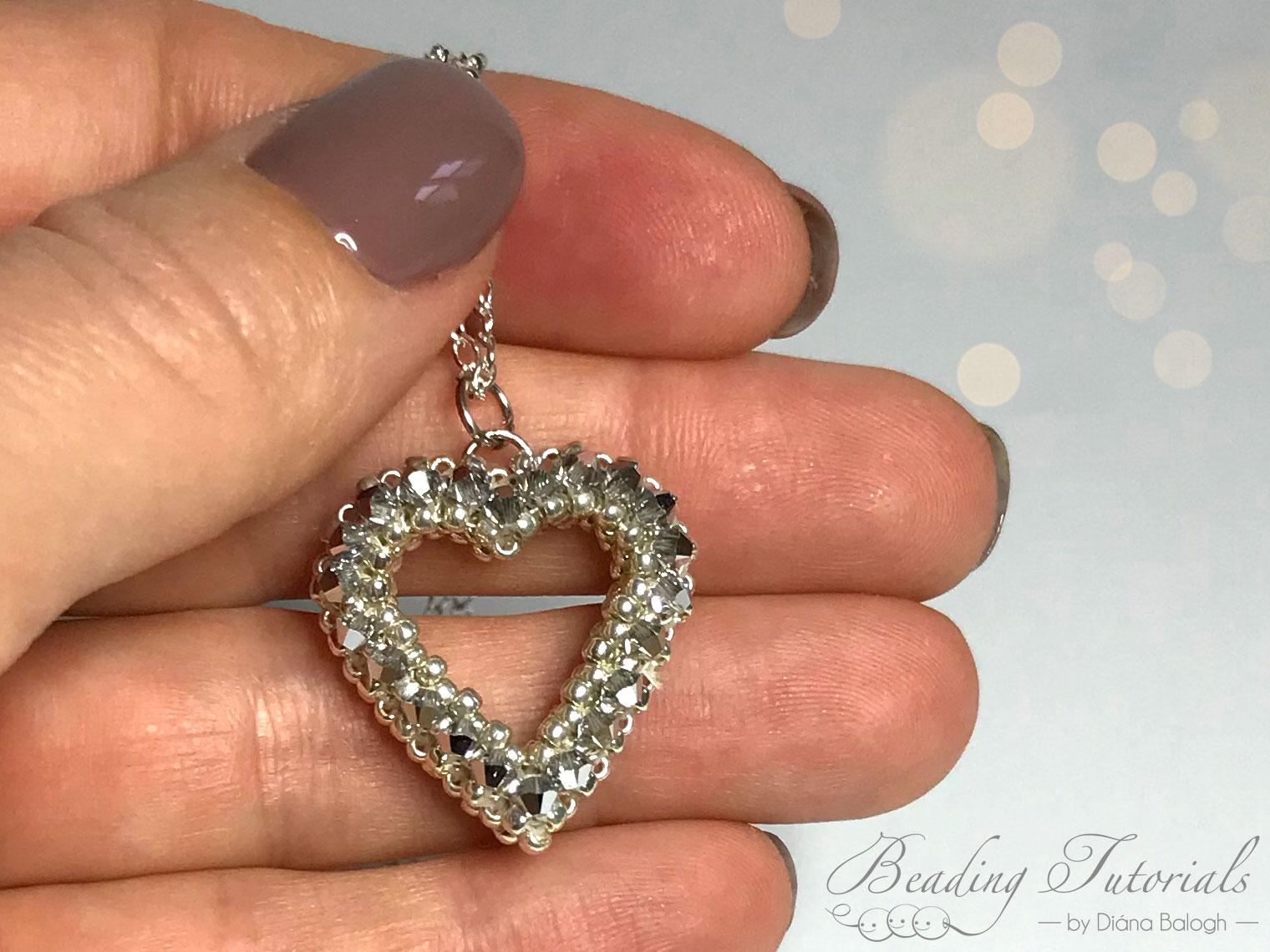 seed bead heart pendant beading tutorial
