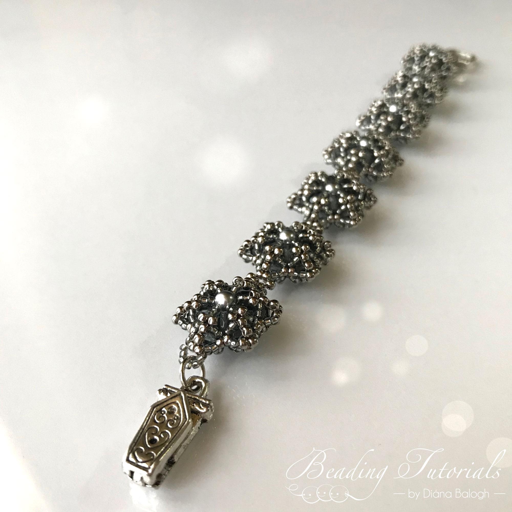 beaded bead bracelet beading pattern