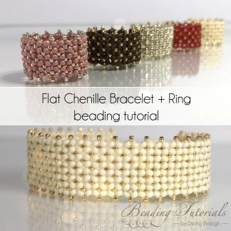 Flat Chenille Bracelet and Ring tutorial by Diána Balogh
