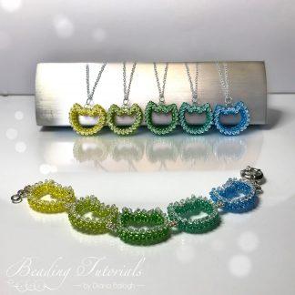 Beding tutorial cat pendant and bracelet