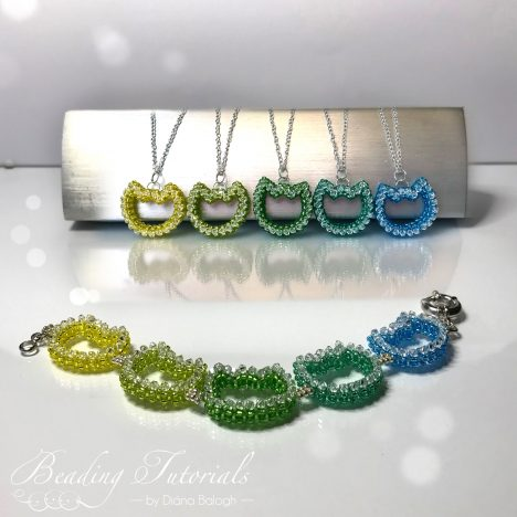 Beding tutorial cat pendant and bracelet