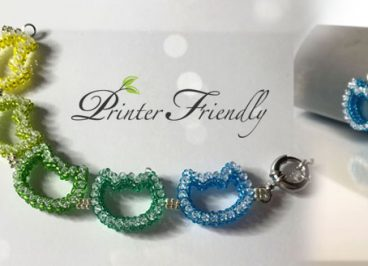 Beading tutorial and pattern cat pendant and bracelet