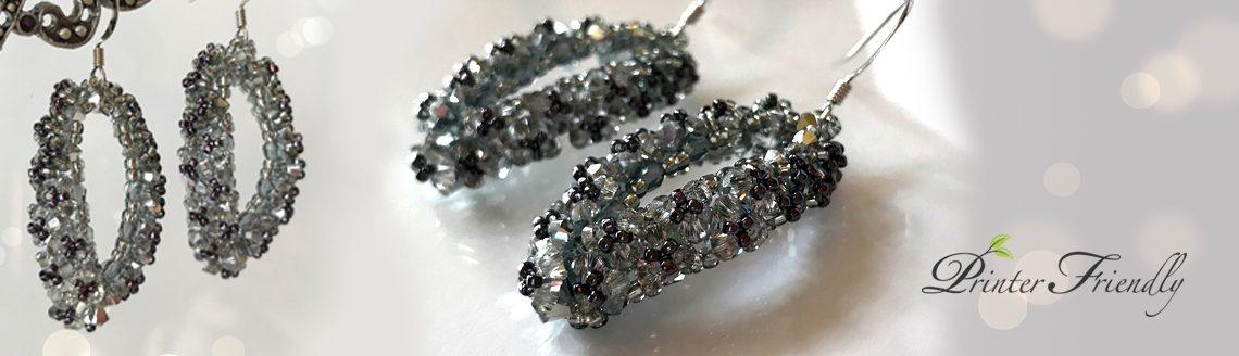 Beading tutorial Emilie Swarovski crystal earrings