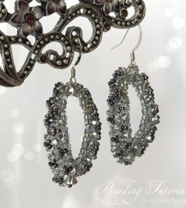 Emilie Swarovski earrings beading tutorial